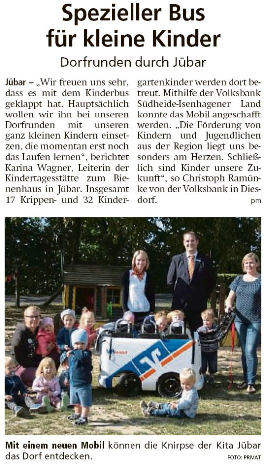 20190828 Altmark Zeitung - Jübar - Kitabus fährt durchs Dorf (pm)