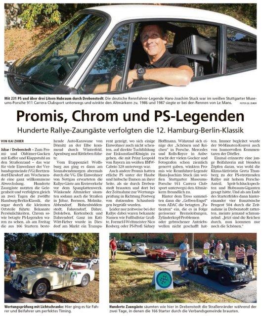 20190902 Altmark Zeitung - Drebenstedt - Auto-Ralley 'Hamburg-Berlin 2019' am Sonnabend (Kai Zuber)