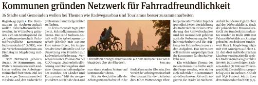 20191113 Volksstimme - AGFK - Gründung in Wittenberg (epd)