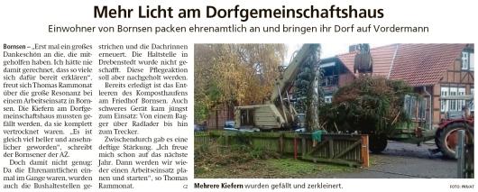 20191120 Altmark Zeitung - Bornsen - Einwohner bringen Dorf auf Vordermann (cz)