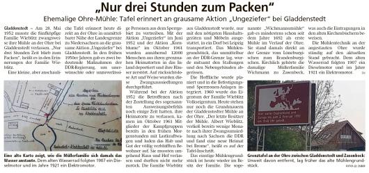 20191123 Altmark Zeitung - Gladdenstedt - Ohre-Mühle wurde 1952 verlassen (Kai Zuber)