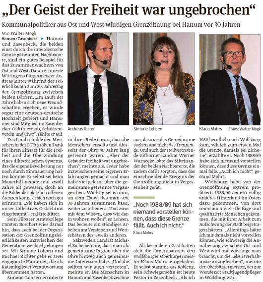 20200110 Volksstimme - Hanum - Kommunalpolitiker zur 30-Jahrfeier (Walter Mogk)