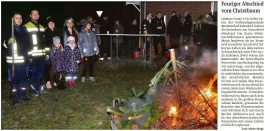 20200113 Volksstimme - Lüdelsen - FFW-LÜ - Abschied vom Weihnachtsbaum (Walter Mogk)