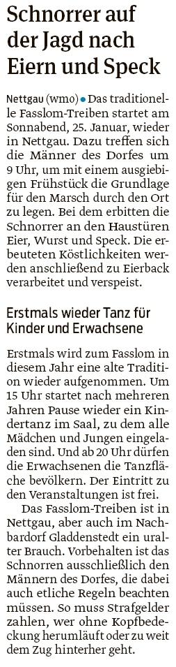 20200114 Volksstimme - Nettgau - Fasslom mit Tanz für Jung und Alt (Walter Mogk)