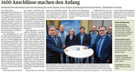 20200125 Volksstimme - ZBA - Ausbau beginnt in Klötze, Beetzendorf-Diesdorf und Kalbe (Walter Mogk)
