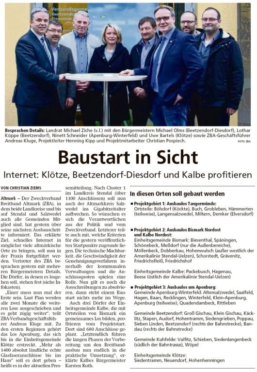 20200125 Altmark Zeitung - ZBA - Ausbau beginnt in Klötze, Beetzendorf-Diesdorf und Kalbe (Chistian Ziems)
