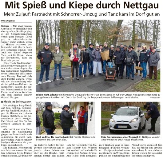20200127 Altmark Zeitung - Nettgau - Fastnacht-Tross mitSpieß und Kiepe (Kai Zuber)