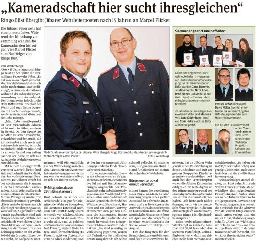 20200128 Volksstimme - Jübar - Ringo Büst gibt Feuerwehrleiterposten an Marcel Plicket ab (Walter Mogk)