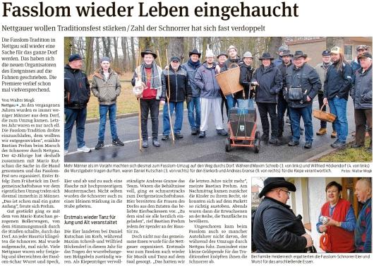 20200129 Volksstimme - Nettgau - Fastnacht-Tross mitSpieß und Kiepe (Walter Mogk)