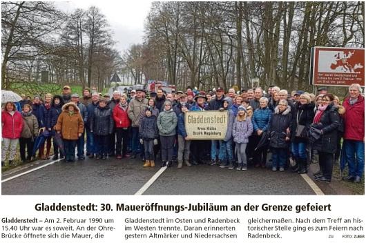 20200203 Altmark Zeitung - Gladdenstedt und Radenbeck - Treffen an Landesgrenze (Kai Zuber)