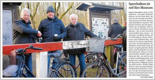 20200206 Volksstimme - Hanum-Zasenbeck - Sperrbalken ins Museum (Walter Mogk)