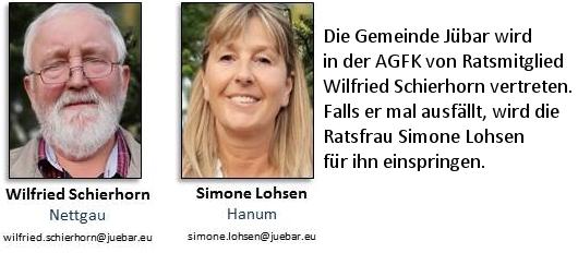 Die Gemeinde Jübar wird in der AGFK von Ratsmitglied Wilfried Schierhorn vertreten Falls er mal nicht kann, wird die Ratsfrau Simone Lohsen für ihn einspringen