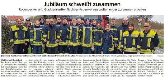 20200207 Altmark Zeitung - Gladdenstedt - FFW - Engere Zusammenarbeit mit Radenbeck (Kai Zuber)