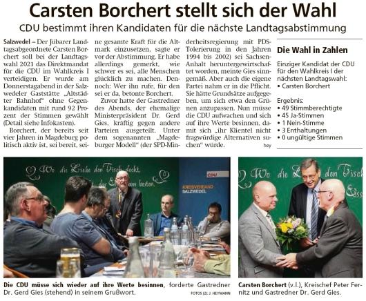 20200208 Altmark Zeitung - Landtag LSA - Carsten Borchert kandidiert 2021 (J. Heymann)