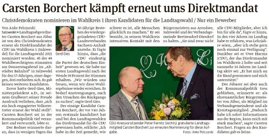 20200208 Volksstimme - Landtag LSA - Carsten Borchert kandidiert 2021 (Anke Pelczarski)