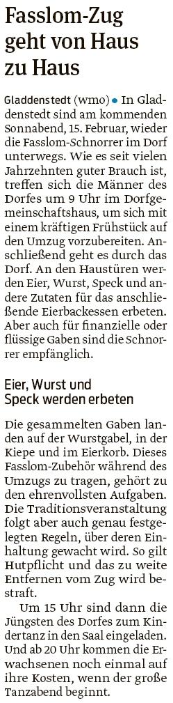 20200211 Volksstimme - Gladdenstedt - Volle Wurstgabel und Eierkiepe (Walter Mogk)