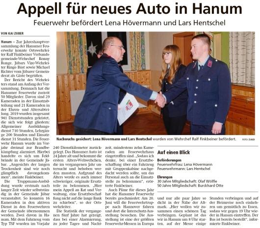 20200213 Altmark Zeitung - Hanum - FFW - Beförderungen für Lena und Lars (Kai Zuber)