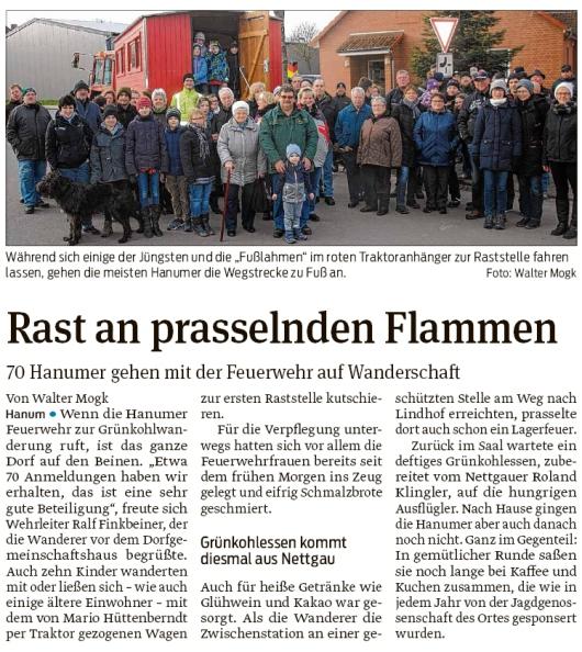 20200213 Volksstimme - Hanum - Grünkohlwanderung mit Zwischenstation (Walter Mogk)