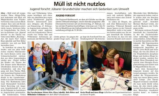 20200220 Altmark Zeitung - Jübar - Grundschüler bei Jugend forscht (cz)