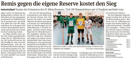 20200219 Volksstimme - Jübar - Hallenfußball Turnier der B-Junioren des FC Jübar-Bornsen (mwi)
