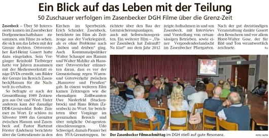 20200221 Altmark Zeitung - Hanum-Zasenbeck - Filme über die Grenzzeit (H-H Huth)