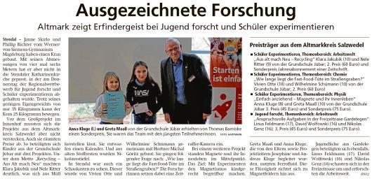 20200229 Altmark Zeitung - Jübar - Anna Kluge und Greta Maaß erhielten Sonderpreis (sth-cz)
