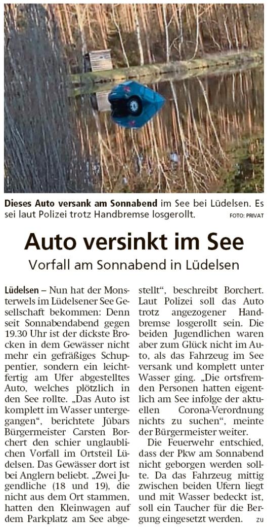 20200406 Altmark Zeitung - Lüdelsen - Golf geht auf Tauchstation (Kai Zuber)
