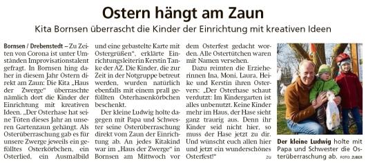 20200411 Altmark Zeitung - Bornsen-Drebenstedt - Osterüberraschung (Kai Zuber)