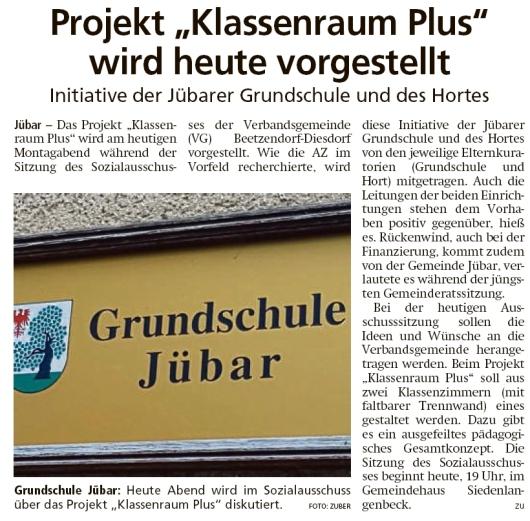 20200504 Altmark Zeitung - Jübar - Klassenraum Plus (Kai Zuber)