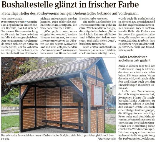 20200514 Volksstimme - Bornsen-Drebenstedt - 2019er Subbotnik beendet (Walter Mogk)
