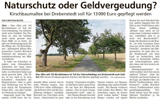 20200904 Altmark Zeitung - Gemeinde Jübar - 10. Ratssitung mit Thema Naturschutz (Christian Reuter)