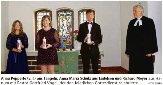 20200918 Altmark Zeitung - Lüdelsen - Konfirmation in der Gedächtniskirche (Kai Zuber)