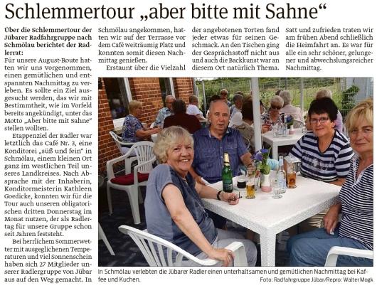 20200918 Volksstimme - Jübar - Radfahrgruppe auf Schlemmertour (Walter Mogk)