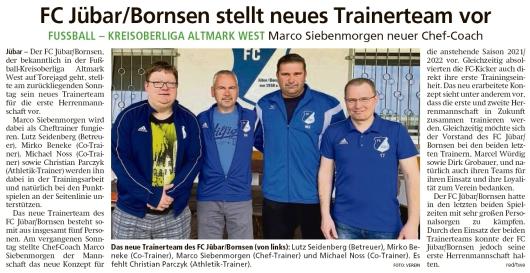 20210426 Volksstimme - Jübar - 10-Jahres-Bilanz des FC Jübar-Bornsen (Marc Wiedemann)