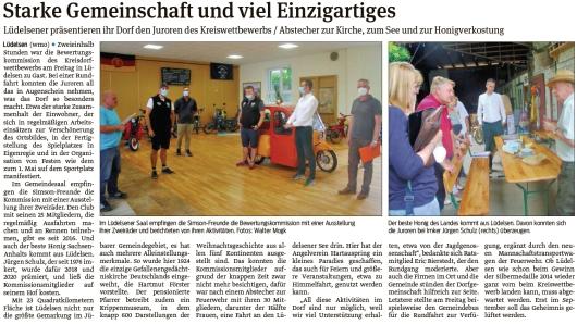 20210628 Volksstimme - Gemeinde Jübar - Bewertungskommission in Lüdelsen (Walter Mogk)