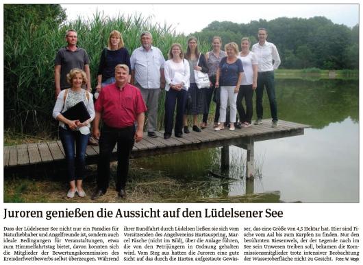 20210705 Volksstimme - Lüdelsen - Juroren am See (Walter Mogk)